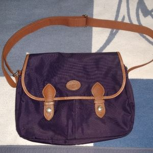 Longchamp purple messenger bag